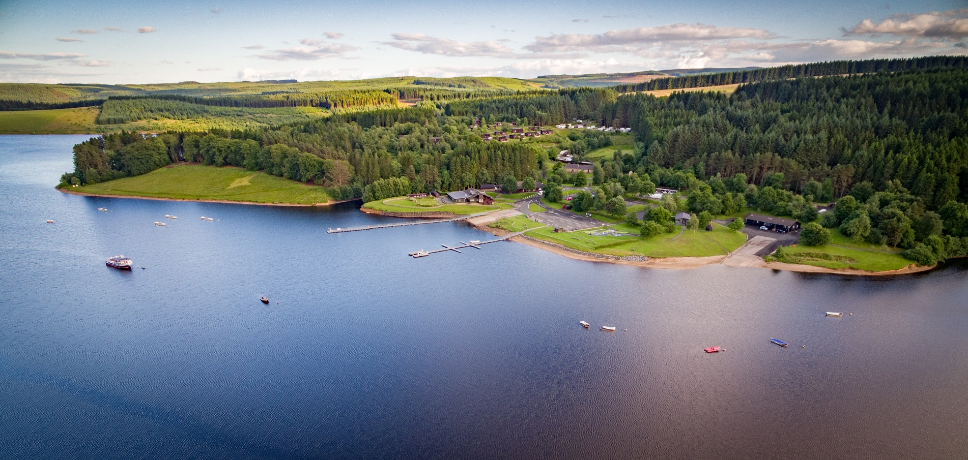 Kielder Waterside from air